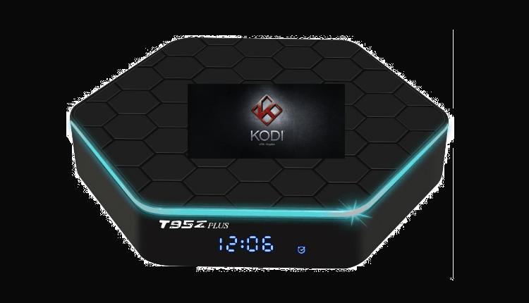 Android TV Box T95Z Plus já com o Kodi 17+ instalado