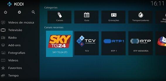 Configurar IPTV, passo seleção de canal