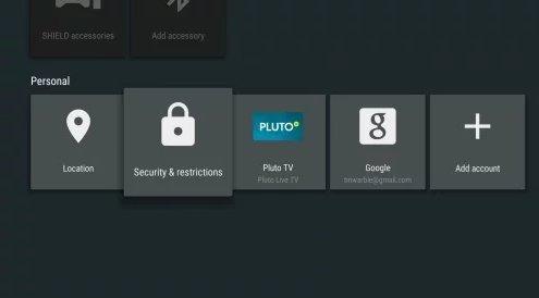 Como Instalar o Kodi - passo Segurança e restrições