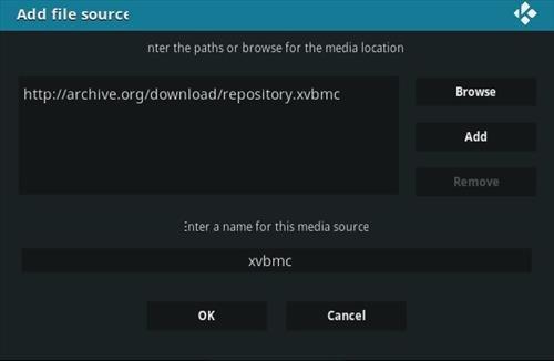 instalação do repositorio XvBMC passo 7