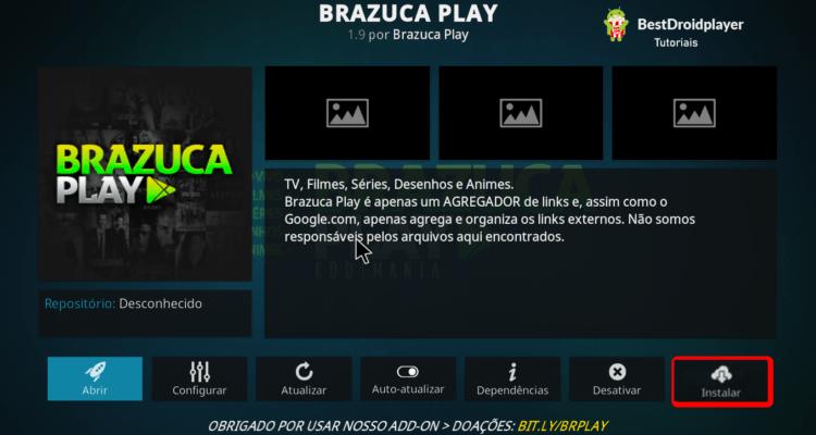 Instalando o Brazuca Play Addon no Kodi