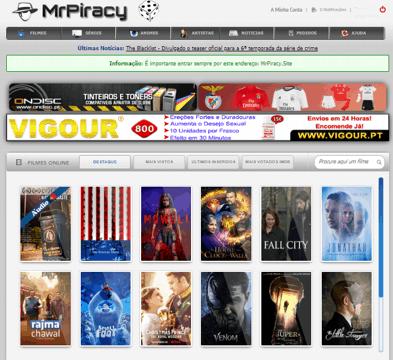 O site MrPiracy