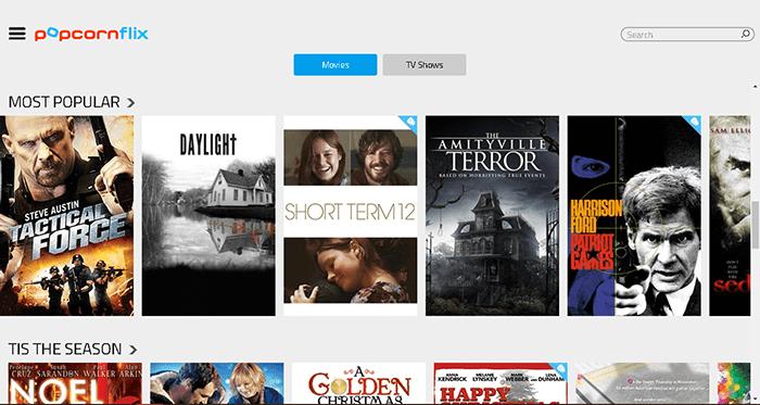 Popcornflix é uma app alternativa à Netflix