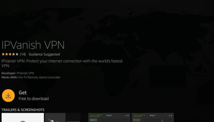 Download do aplicativo do IPVanish