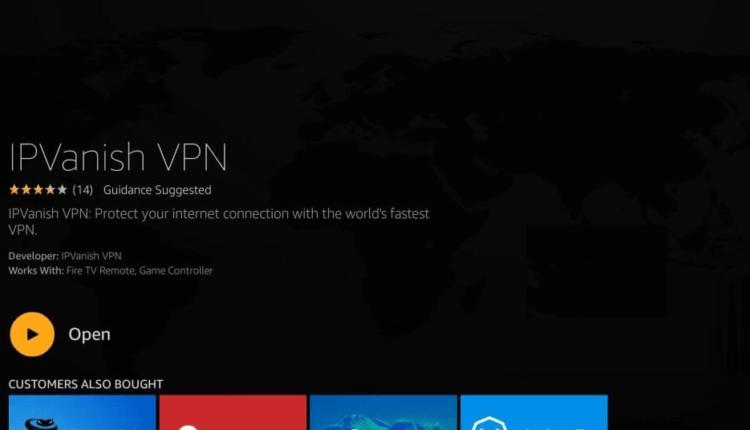 Selecione para abrir o aplicativo IPVanish