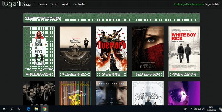 Tugaflix, é um site português de streaming livre e gratuito