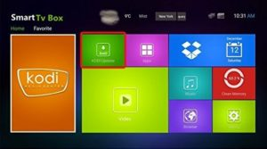 android tv box home screen
