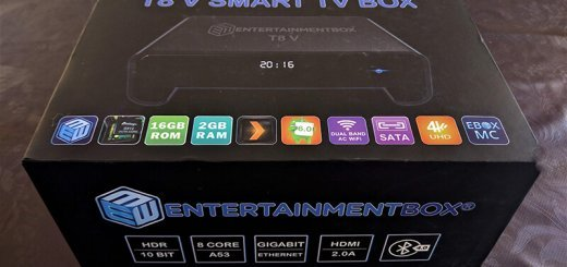 Best android tv box 2017 - T8 V EBox packaging