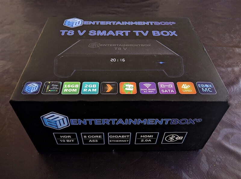 Best Android Tv Box 2017 T8 V Ebox Packaging