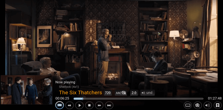 watch sherlock on kodi