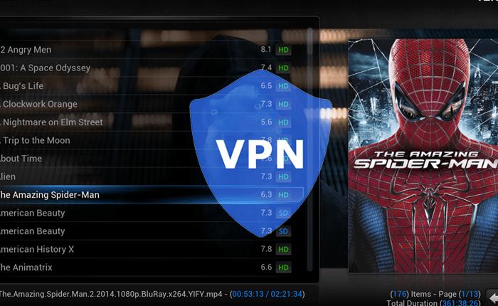 use vpn while streaming on kodi