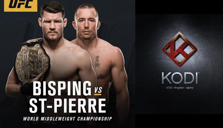 UFC 217 Bisping vs St-Pierre on Kodi