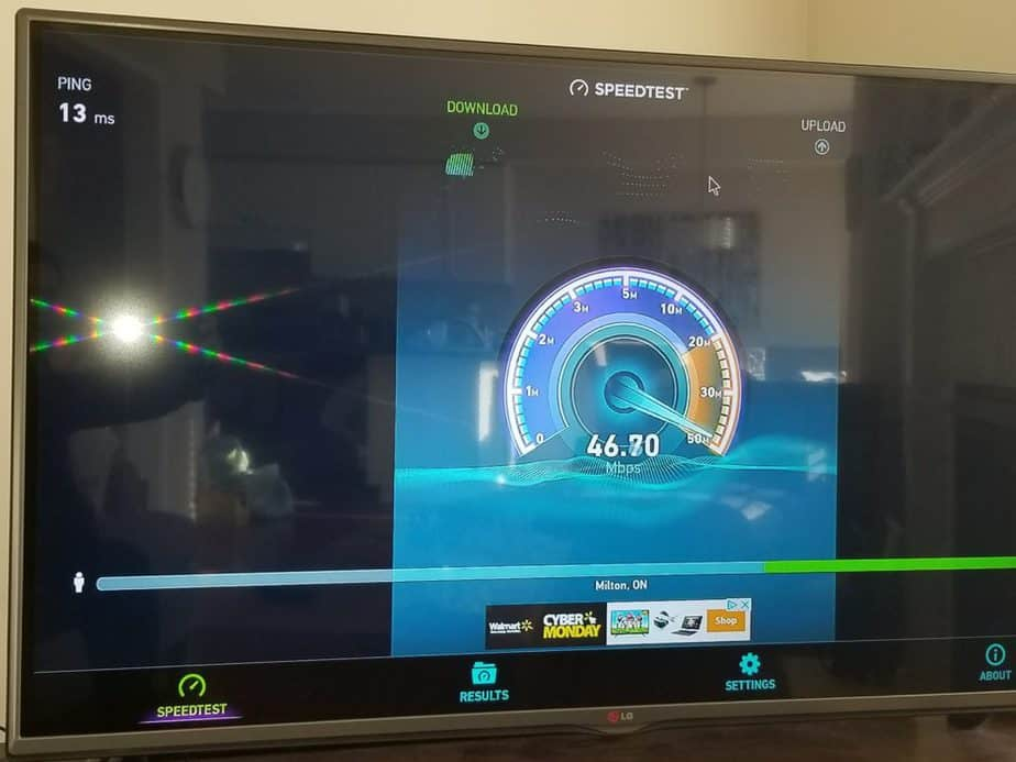 vorke Z6 ookla internet speed test