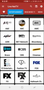 Live NetTV Channels