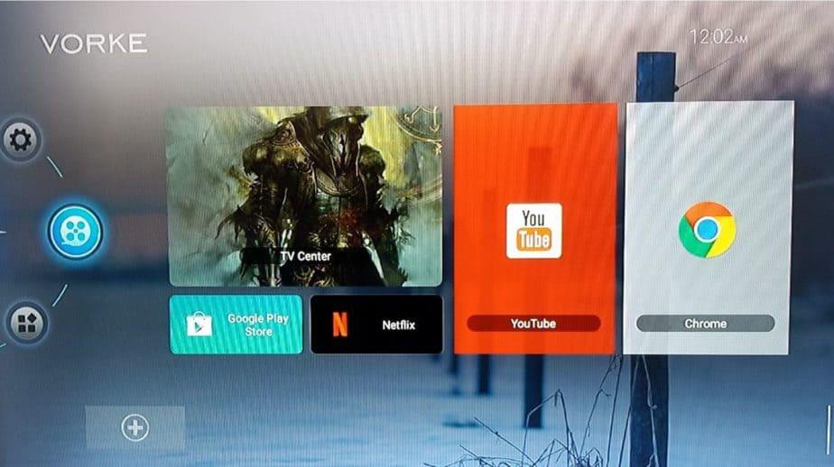 vorke Z6 home screen