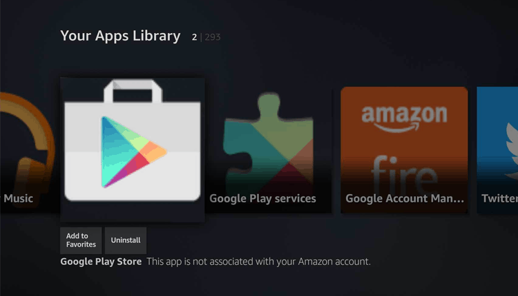 Google Play Store on Fire Stick
