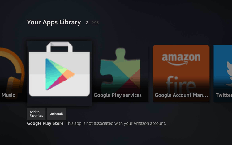 play store apk para amazon fire tv