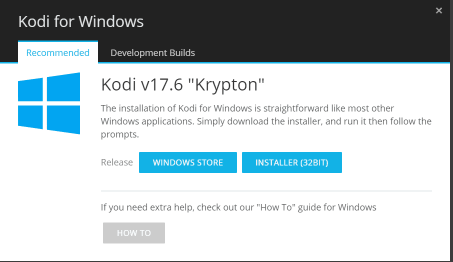 install kodi for windows