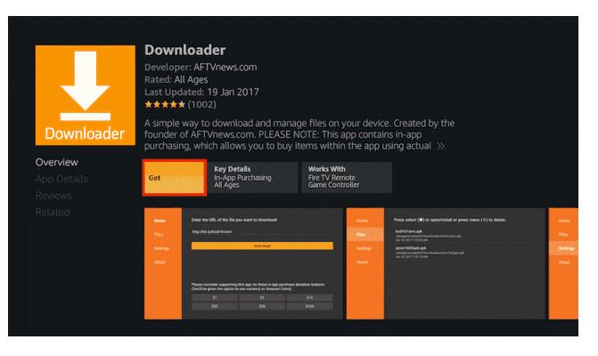 Download Downloader Firestick