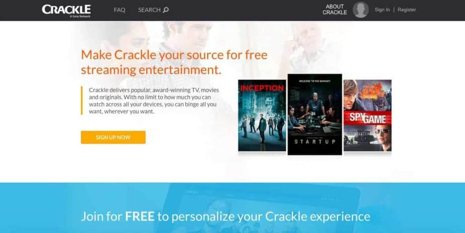 Crackle - Free alternative to Netflix and Hulu