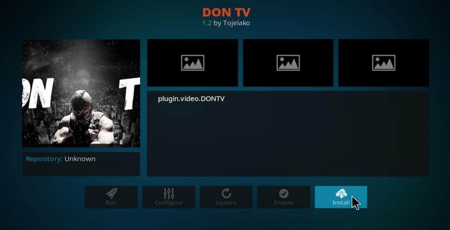 Install don tv