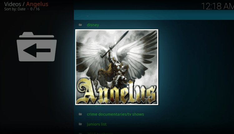 install angelus kodi addon