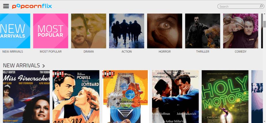 Popcornflix Tv - Free alternative to Netflix and Hulu