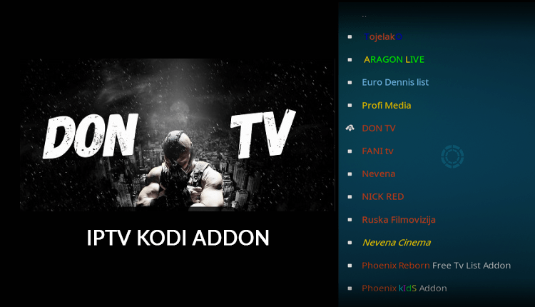 Install Don TV Kodi Addon