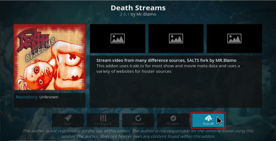 Death Streams install