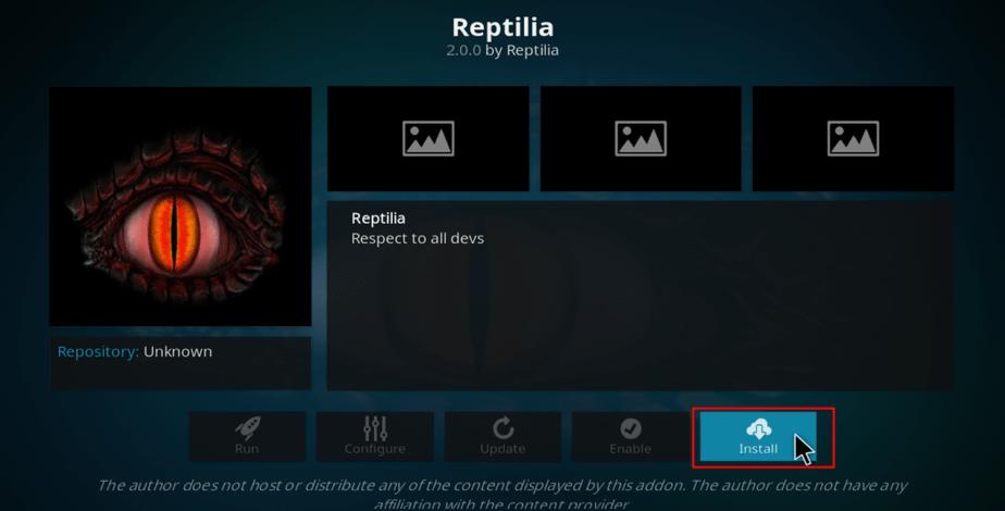 install Reptilia