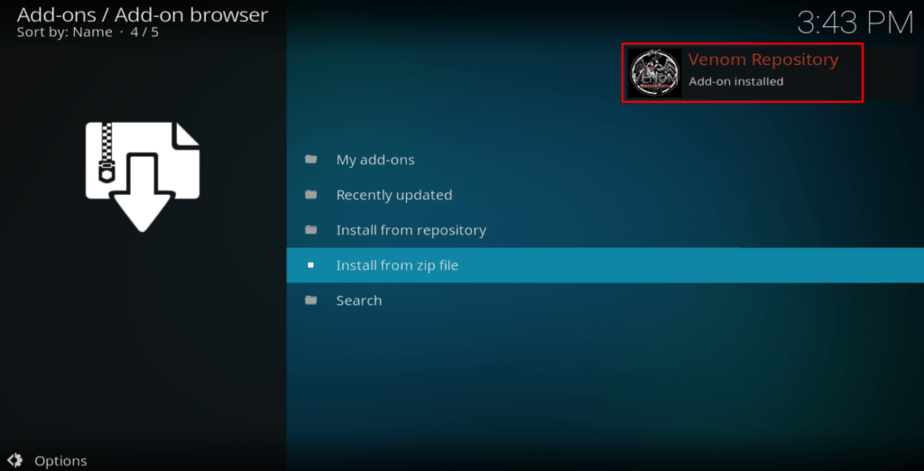 venom repository notification