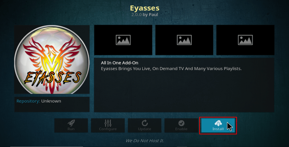 eyasses Install option