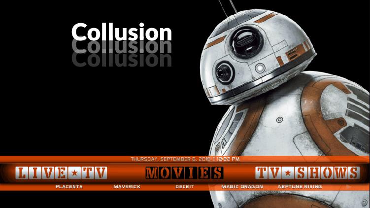 Collusion is a Build for Kodi