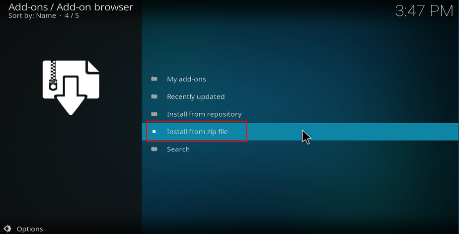 Install repo from a zip file on Kodi