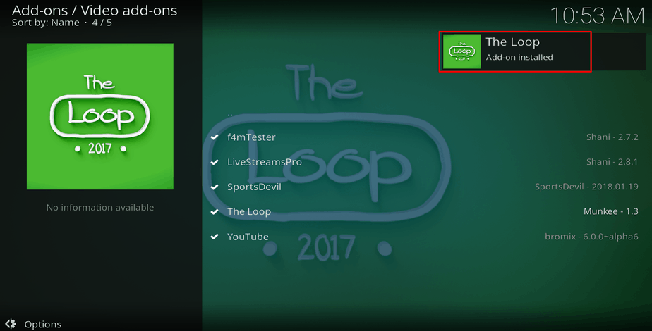 How to Install The Loop Kodi Addon - Live Sport TV streams