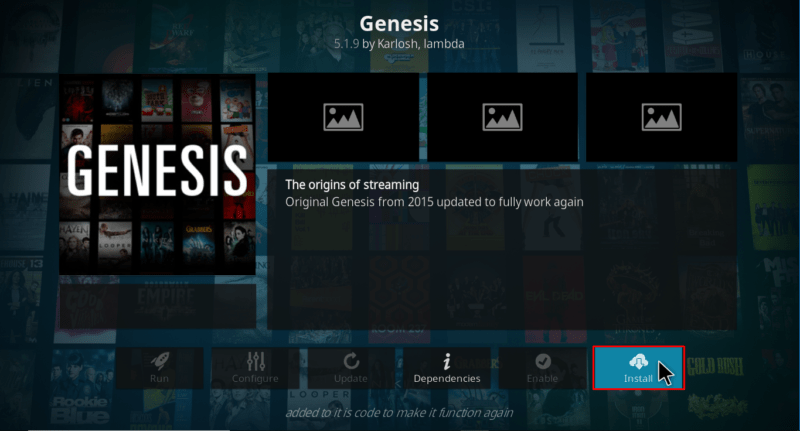 Install Genesis Addon on Kodi