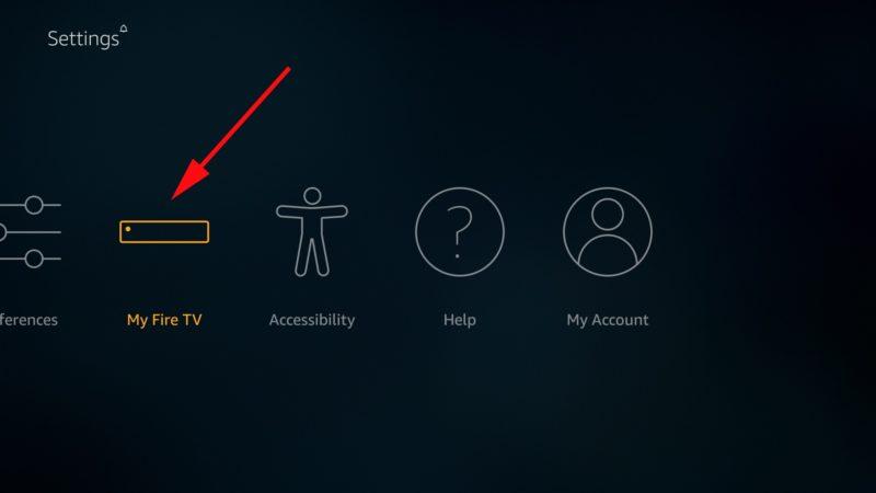 Select My Fire TV/ Device on Firestick