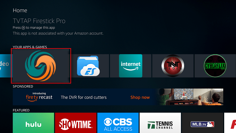 TVTap should now be available on apps list