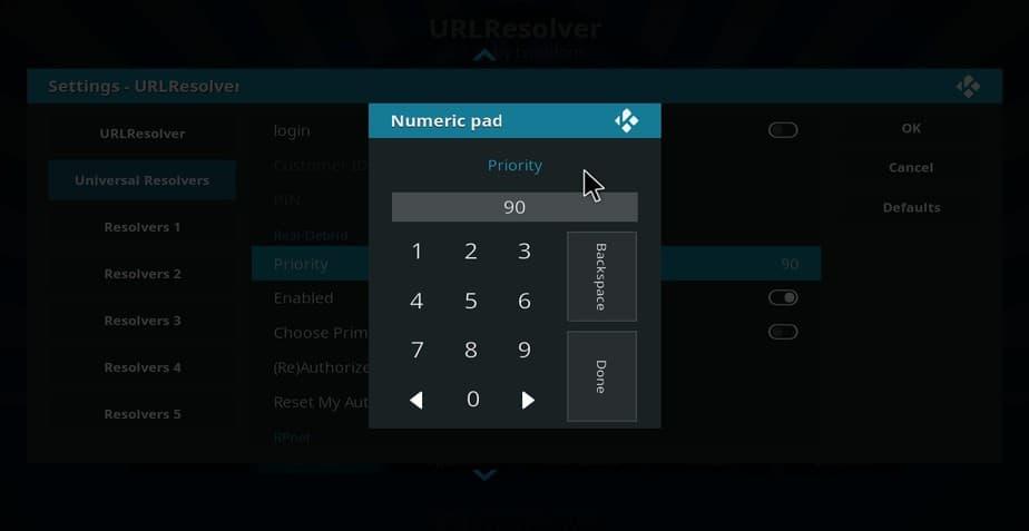 Give Real-Debrid priority on universal url resolver on Kodi