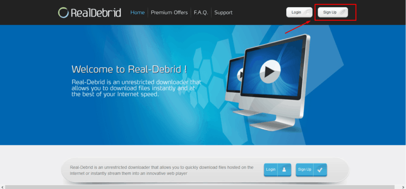 Real Debrid Website