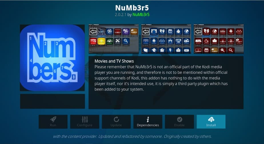 How to Install Numbers an High Quality All in One Kodi Addon