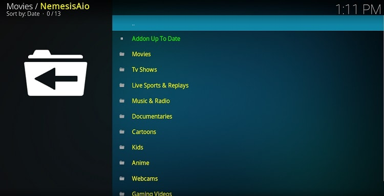Nemesis AIO gives you access to many kind of streams, after install the Addon on Kodi